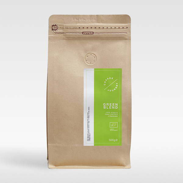 Kawa ziarnista 100% arabika ekologiczna z Hondurasu Green Blend Coffee Journey