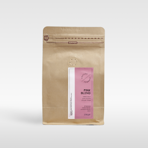 Kawa ziarnista 100 % arabika z Brazylii I Etiopii Pink Blend Coffee Journey