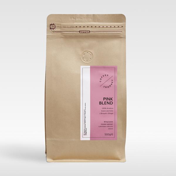 Kawa ziarnista 100 % arabika z Brazylii I Etiopii Pink Blend Coffee Journey