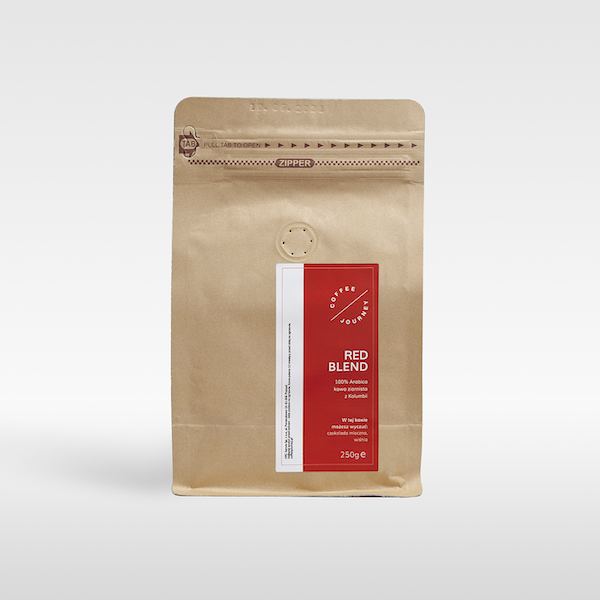 Kawa ziarnista Red Blend 100 % arabika z Kolumbii Coffee Journey