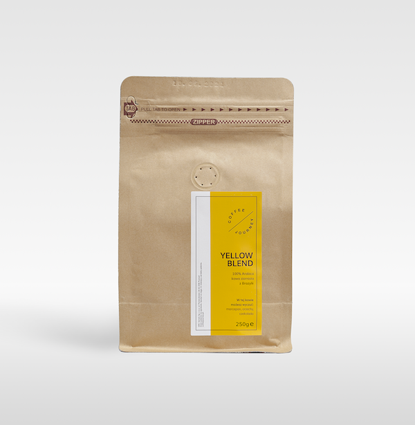 Kawa ziarnista 100 % arabika z Brazylii Yellow Blend Coffee Journey