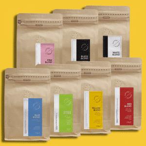 zestaw siedmiu kaw coffee journey