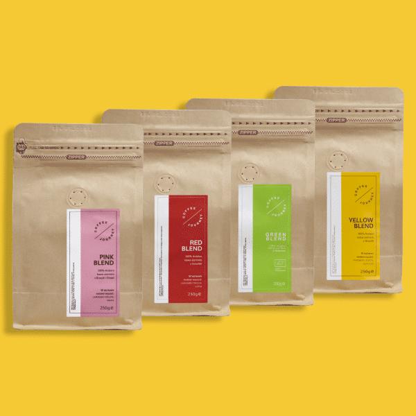 zestaw czterech kaw Coffee Journey